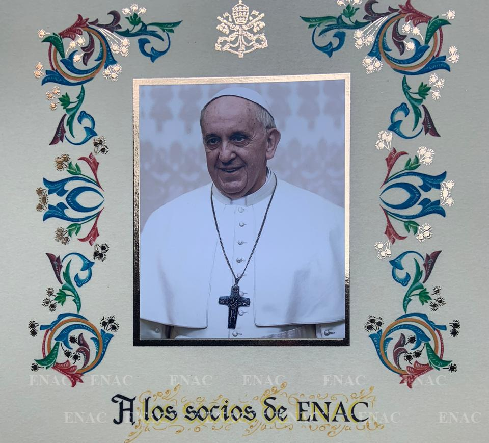 Bendicion Francisco a ENAC 2